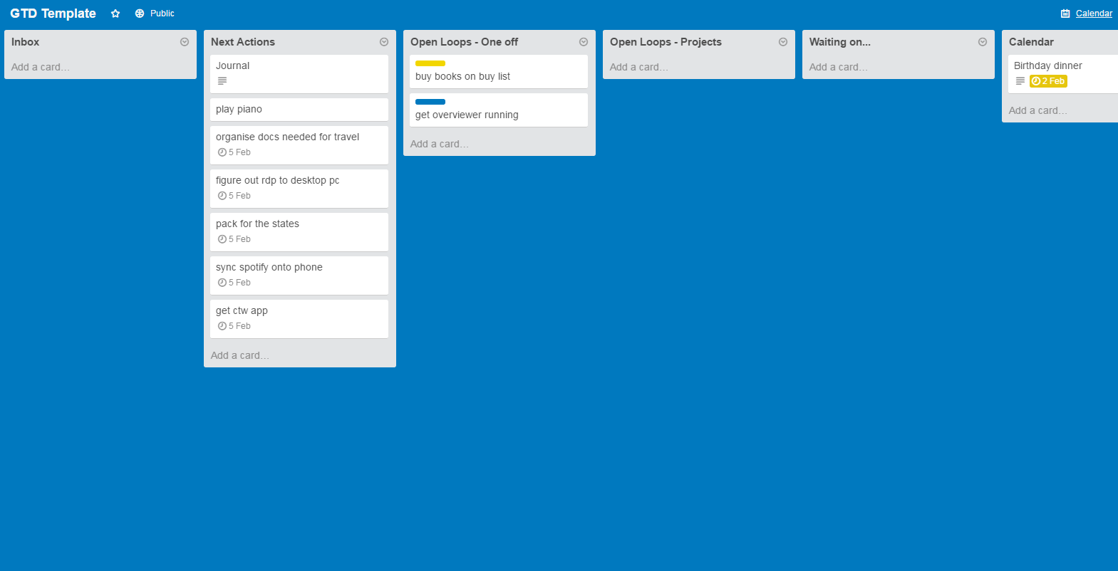 Getting Things Done (with Trello)